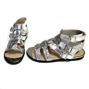 Silver Gladiator Sandals New Buckle Sparkly
